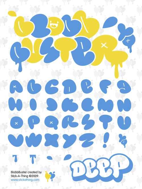 bubble font blog