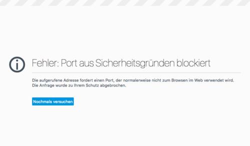 Firefox Fehlermeldung