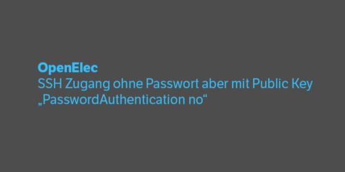 OpenElec SSH